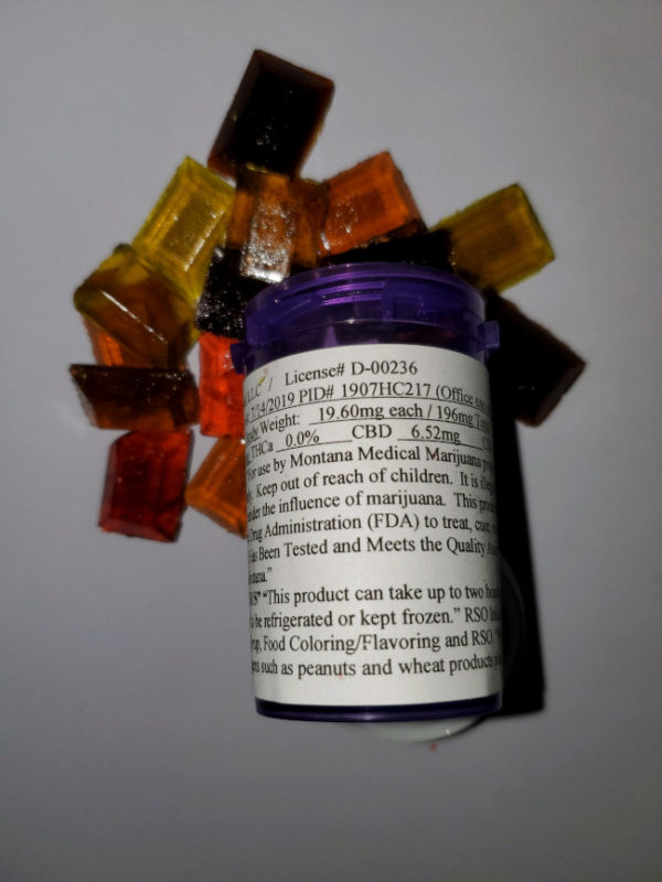 RSO infused hard candy